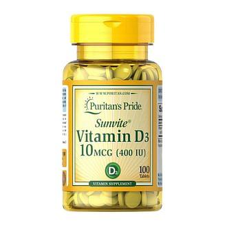 Puritan's PrideVitamin D3 400 IU100 tablets Puritan's Pride