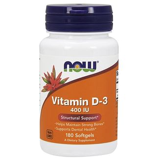 Витамины и минералыNOWVitamin D-3 400 IU180 softgels NOW