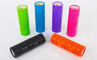 Роллер (ролик, валик) 45 см массажный Grid Roller 3D для массажа спины, тела, мышц
