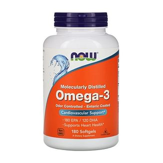 Омега 3NOWOmega-3 Odor Controlled - Enteric Coated180 softgels NOW