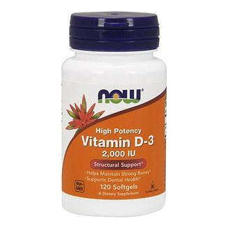 Витамин Д3 NOWVitamin D-3 50 mcg (2000 IU) 120 softgels NOW