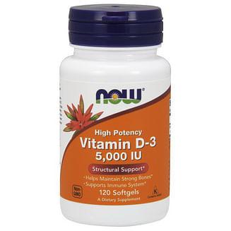 Витамин Д3 минералыNOWVitamin D-3 125 mcg (5000 IU) 120 softgels NOW