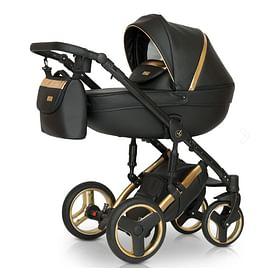Коляска 2в1 цвет золото+ чёрный Verdi Mirage Limited