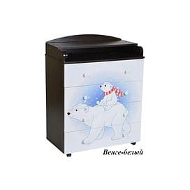 Детский пеленальный комод Антел Лилу 1 / Кедр Fantasia 800/4 МДФ5205637 Антел