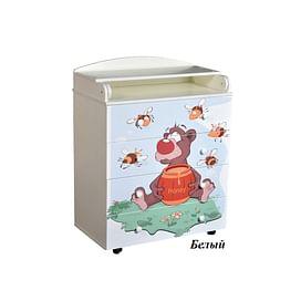 Детский пеленальный комод Антел Лилу 4 / Кедр Fantasia 800/4 МДФ5205691 Антел
