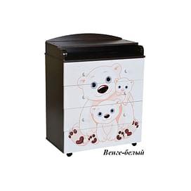 Детский пеленальный комод Антел Лилу 5 / Кедр Fantasia 800/4 МДФ5205698 Антел