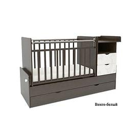 Детская кровать - трансформер с маятником СКВ 55003 Жираф5205977 СКВ
