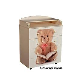Детский пеленальный комод Антел / Кедр Victoria Мишка 800/5 МДФ5211473 Антел