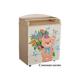 Детский пеленальный комод Антел Лилу 2 / Кедр Fantasia 800/4 МДФ5211504 Антел