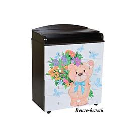 Детский пеленальный комод Антел Лилу 2 / Кедр Fantasia 800/4 МДФ5211505 Антел