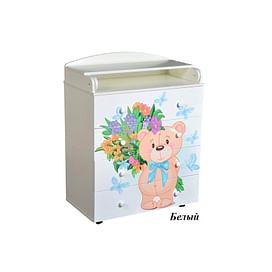 Детский пеленальный комод Антел Лилу 2 / Кедр Fantasia 800/4 МДФ5211506 Антел