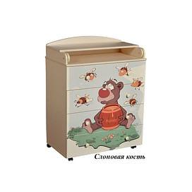 Детский пеленальный комод Антел Лилу 4 / Кедр Fantasia 800/4 МДФ5211545 Антел
