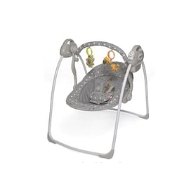 Детские электрокачели Baby Care Riva (с адаптером) серый5216564