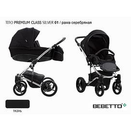 КОЛЯСКА 2 В 1 BEBETTO (01) Bebetto TITO PREMIUM CLASS SILVER 2020