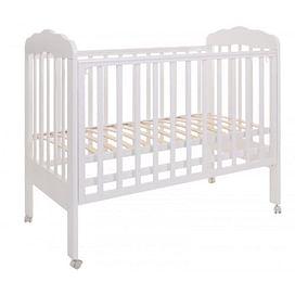 Кровать детская 120*60 (арт.87) колесо (белый) (tam) ТОПОТУШКИ Мария -1