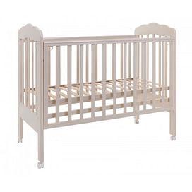 Кровать детская 120*60 (арт.87) колесо (слоновая кость) (tam) ТОПОТУШКИ Мария -1