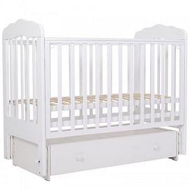 Кровать детская 120*60 (арт.90) маятн/ящ (белый) (tam) ТОПОТУШКИ Мария -6