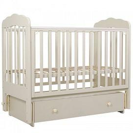 Кровать детская 120*60 (арт.90) маятн/ящ (слоновая кость) (tam) ТОПОТУШКИ Мария -6