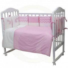 """Комплект постельного белья """"Долли"""" (6 предметов) розовый (tam) ТОПОТУШКИ"""