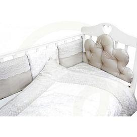 Комплект белья в детскую кроватку 6 предметов Облака (серый) 6804489792 (tam) ТОПОТУШКИ