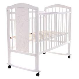 Кровать детская NOLI ЖИРАФИК Белый (колесо/качалка накладка) PITUSO