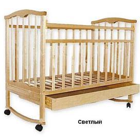Кровать детская ЗОЛУШКА 2 NEW Светлая (колесо/качалка/откр ящик)