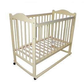 Кровать детская МОЙ МАЛЫШ 1 слоновая кость (колесо/качалка накладка)