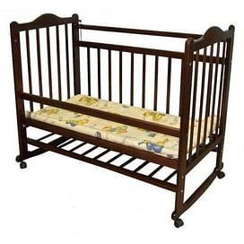 Кровать детская МОЙ МАЛЫШ 1 темный (колесо/качалка)