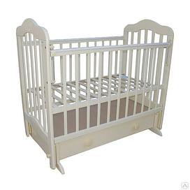 Кровать детская МОЙ МАЛЫШ 3 слоновая кость (универсальный маятник/ящик накладка)