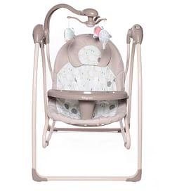 Электрокачели IcanFly 2в1 с адаптером (Улитка бежевый (Snail Beige)) Babycare
