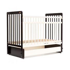 Детская кроватка Bambini 01.10.05 (темный орех/слоновая кость)