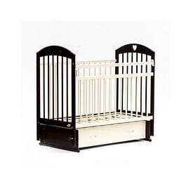Детская кровать Bambini Comfort М / 01.10.19 (темный орех/слоновая кость)