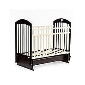 Детская кровать Bambini Comfort М / 01.10.20 (тёмный орех/слоновая кость)