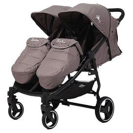 Прогулочная коляска для двойни Rant BiPLANE RA146 brown