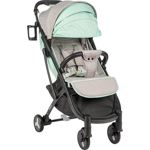 Прогулочная коляска (черная база, серый/бирюзовый) Sundays Baby S600 Plus