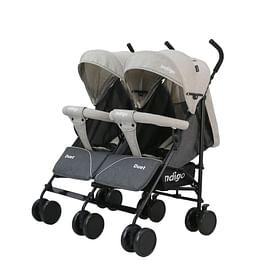 Прогулочная коляска INDIGO Duet (бежевый/серый)