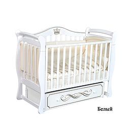 Детская кроватка (белый) Антел Julia 111/ Кедр Grace 1