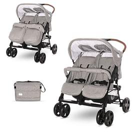 Коляска прогулочная Lorelli Twin (Steel Grey 2021)