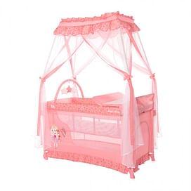 МАНЕЖ-КРОВАТЬ Lorelli MAGIC SLEEP (Pink Princess 2021)