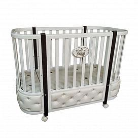 Детская кроватка Ray Milania Premium 1 (белая)