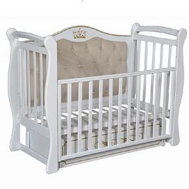 Детская кроватка Ray ELIZABETH PREMIUM 1 ( УНИВЕРСАЛЬНЫЙ МАЯТНИК + ЯЩИК ) (белый)