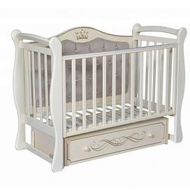 Детская кроватка Ray ELIZABETH PREMIUM 1 ( УНИВЕРСАЛЬНЫЙ МАЯТНИК + ЯЩИК ) (слоновая кость