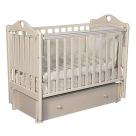 Кровать детская Ray GRACE 3 (УНИВЕРСАЛЬНЫЙ МАЯТНИК + ЯЩИК) (слоновая кость)
