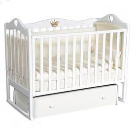 Кровать детская Ray GRACE 4 (УНИВЕРСАЛЬНЫЙ МАЯТНИК + ЯЩИК) (белый)