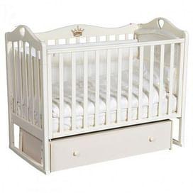 Кровать детская Ray GRACE 4 (УНИВЕРСАЛЬНЫЙ МАЯТНИК + ЯЩИК) (слоновая кость)