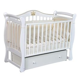 Кровать детская Ray KAROLINE 1 (УНИВЕРСАЛЬНЫЙ МАЯТНИК + ЯЩИК) (белый)