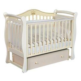 Кровать детская Ray KAROLINE 1 (УНИВЕРСАЛЬНЫЙ МАЯТНИК + ЯЩИК) (слоновая кость)