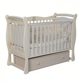 Кровать детская Ray VENECIA 1 ( УНИВЕРСАЛЬНЫЙ МАЯТНИК + ЯЩИК ) (слоновая кость)