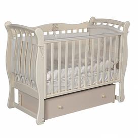 Кровать детская Ray VENECIA 3 ( УНИВЕРСАЛЬНЫЙ МАЯТНИК + ЯЩИК ) (слоновая кость)