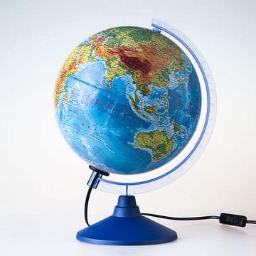 Глобус Земли физико-политический с подсветкой. Диаметр 250мм Артикул: 16894 Глобен Диаметр 250мм